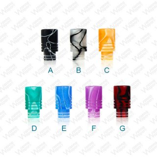 510 Drip Tip Acryl Psycho Ribbed Wide